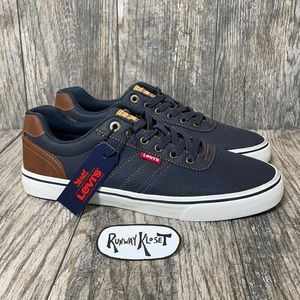 Levi's synthetic casual sneakers blue brown
